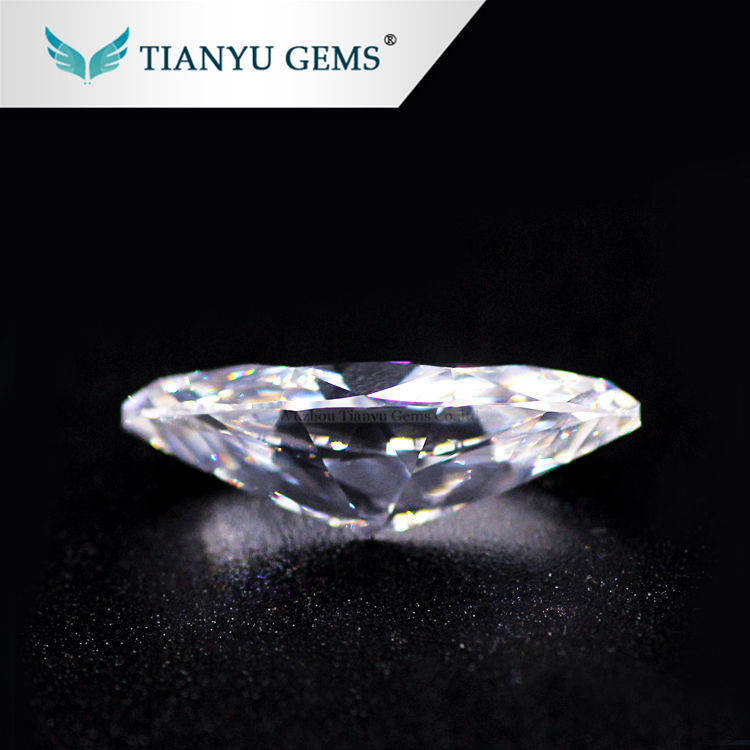 Wholesale Wuzhou Gems Loose Synthetic Gemstone Marquise White Artificial Cubic Zirconia CZ Stone