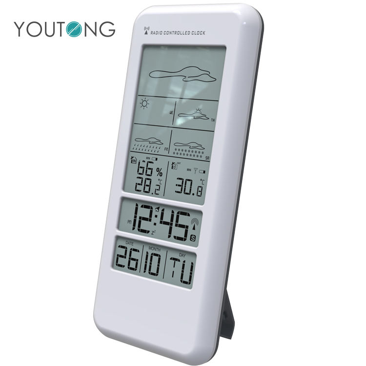 LCD Digital 5 Working Day Indoor Outdoor Weather Forcast Wireless Weather Stations , 5 Day Weather Forecast