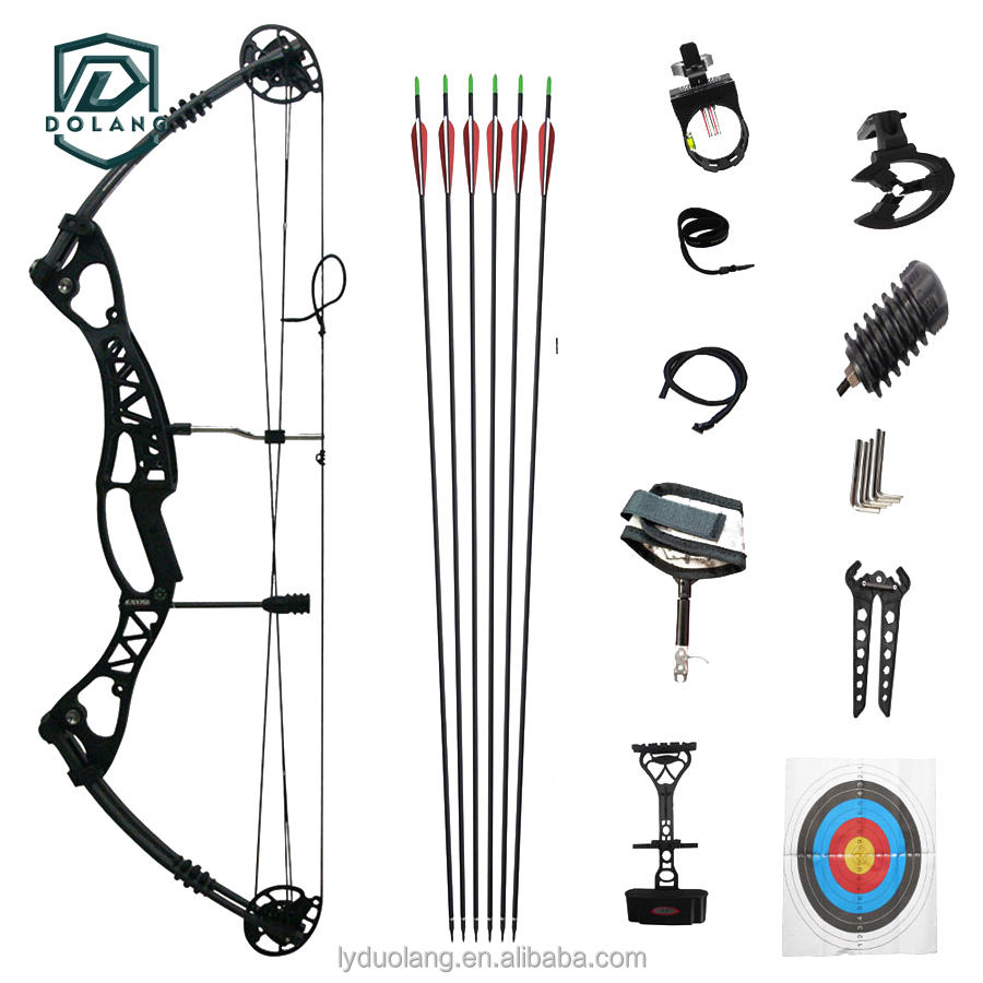 Hunting Archery Compound Bow 40-60lbs Aluminum Alloy Slingshot Bow with Peep Sight for Adult Hunter Outdoor Hunting Shoot