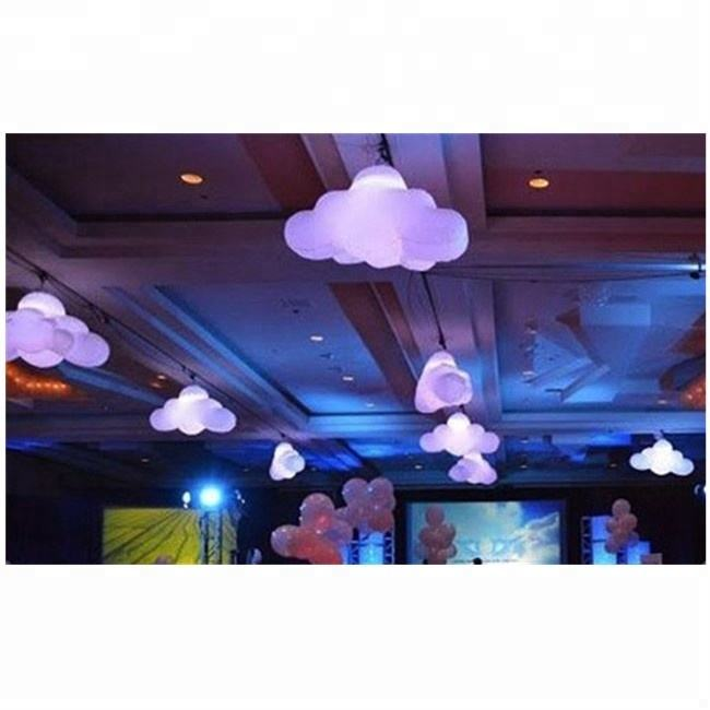 Verlichting Opblaasbare Opknoping Cloud Ballon/Plafond Air Balloon Cloud Met Led-verlichting