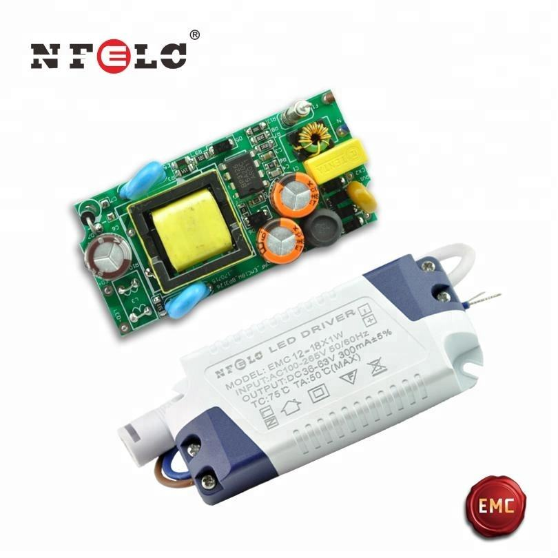 zhongshan 12-18x1W EMC AC power supply to 36 volt DC 300mA constant current 2 years warranty panel light 18W led driver