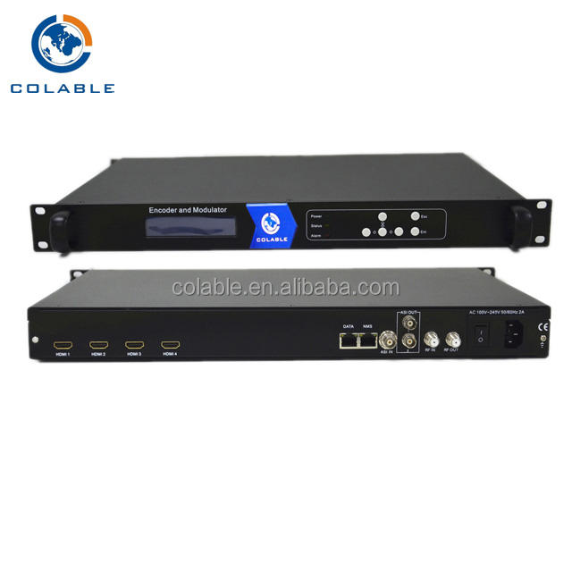 High quality 4CH mpeg4/h.264 full HD DVB-T encoder modulator COL5011U