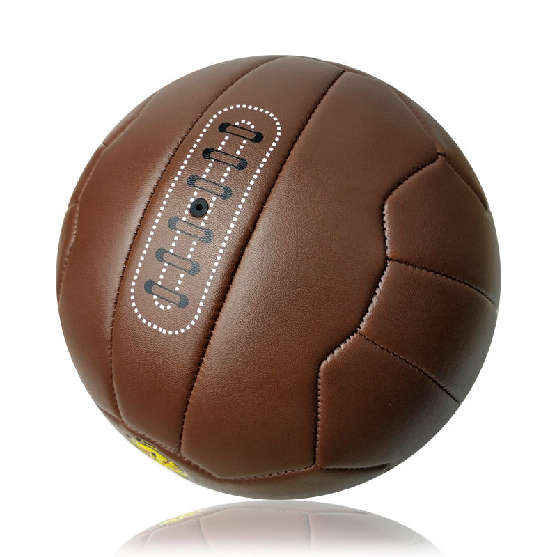 antique pvc leather soccer ball size 5 old fashioned PVC football for promotional gift