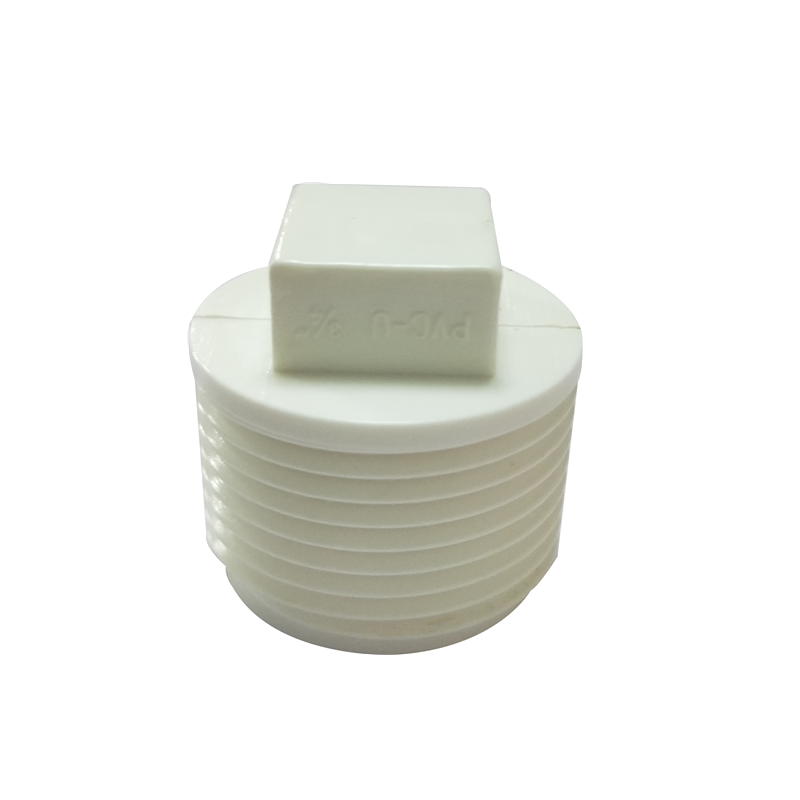 Plastic Pvc Bs Thread Pipe Fittings Male Pipe End Plug