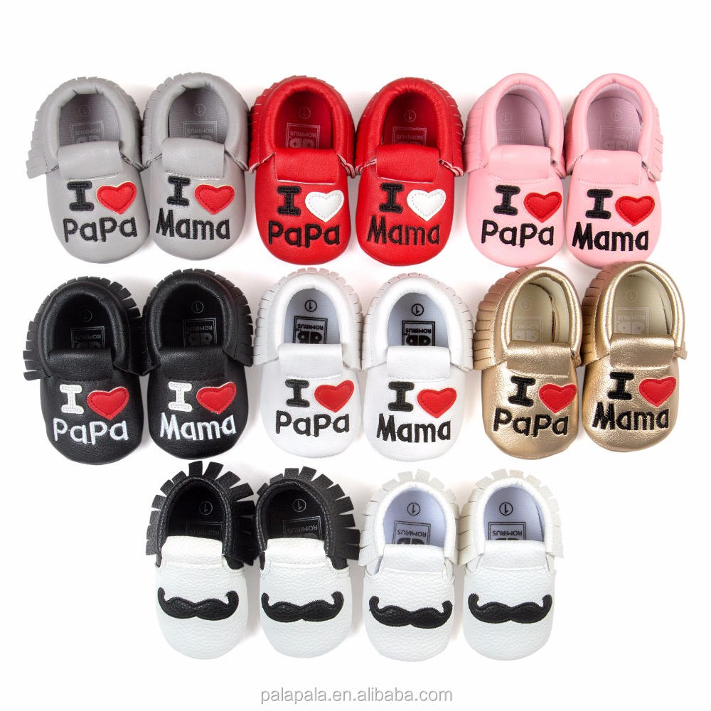 wholesale pu leather baby moccasins boys girls handmade children shoes baby moccs boots
