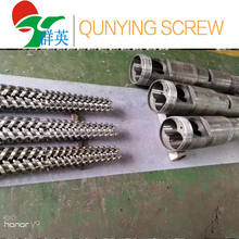 High quality nitriding bimetallic parallel/conical twin screw barrel for PVC pipes