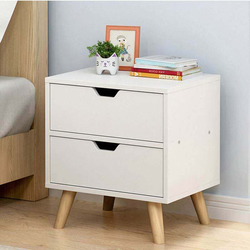 Bone Inlay Bedside Table End Table Bedroom Night Stand