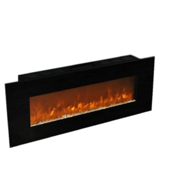"50"" electric wall electric fireplace with crystal/pebbles /wood"
