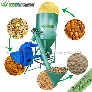 Weiwei feed making poultry pellet maker grain grinder and mixer