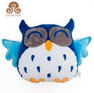 3d kids animal gift baby owl shaped cushion pillow