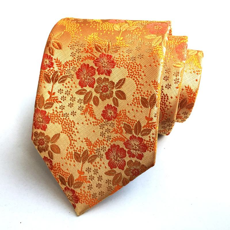 RTS MOQ 5pcs per design high quality formal golden neck tie for men