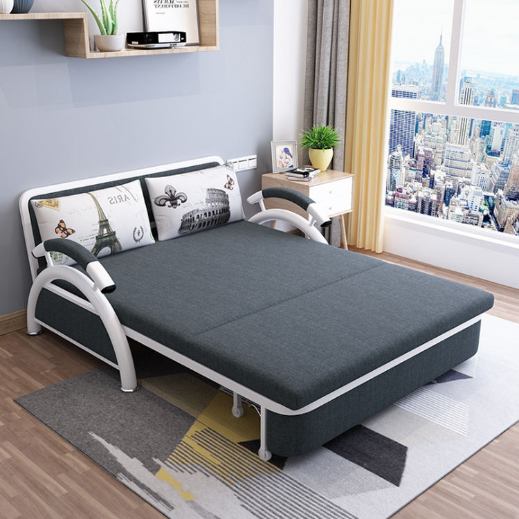Chinese factory wholesale functional metal sofa bed with armrest