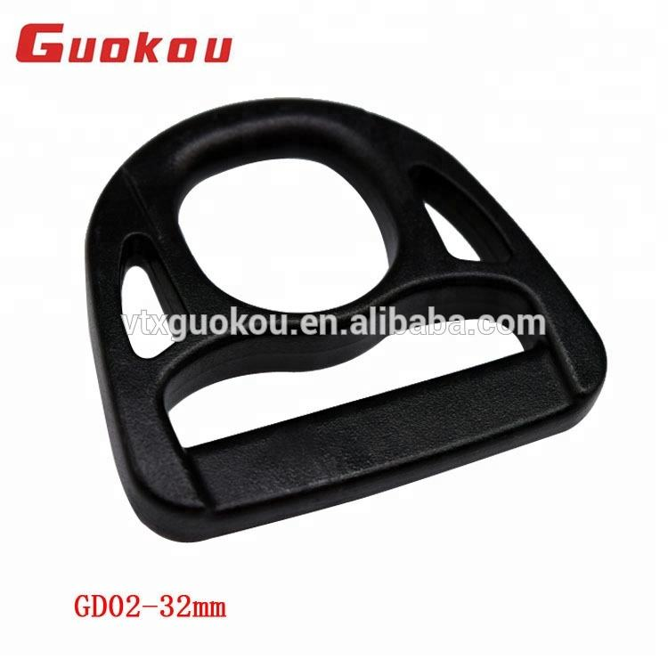 GD02 promotional plastic d ring buckle 32mm
