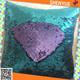 Bailange PET textile reversible mermaid spangle sequin color changing embroidered fabric for bags, sequin mermaid dress