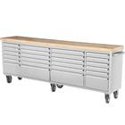 96 inch 24 drawers Rolling Workbench Drawer Tool Chest Stainless Steel Tool Trolley Cabinet with casters