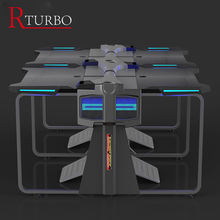 Rturbo Double seat computer table computer desk gaming table