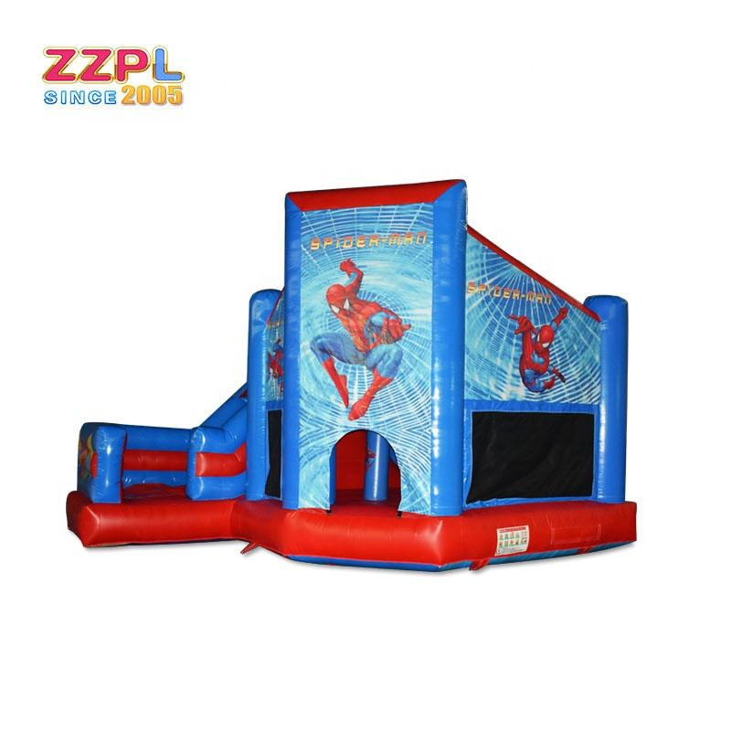 Hot spiderman inflatables bouncy castles adult bounce house