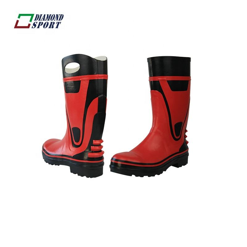 Heated steel toe rubber safty men work protection boots shoes