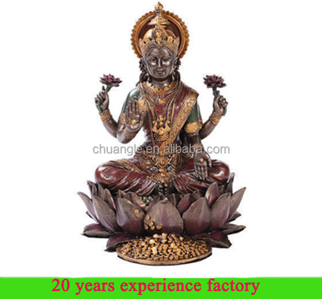 hot Hindu Goddess of Wealth Prosperity Lotus goddess lakshmi statue idols figure