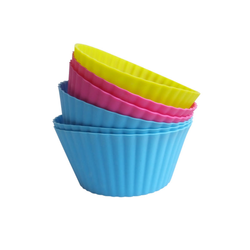 LK001 Heat Resistant Up to 480 Fahrenheit Food Grade Silicone Cupcake Moulds Muffin Moulds Cupcake Cases