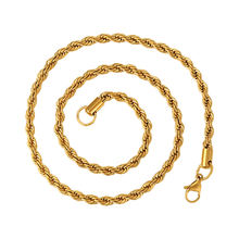 45151 Hot Sale xuping fashion necklace Stainless Steel   24K gold color latest design jewellery necklace