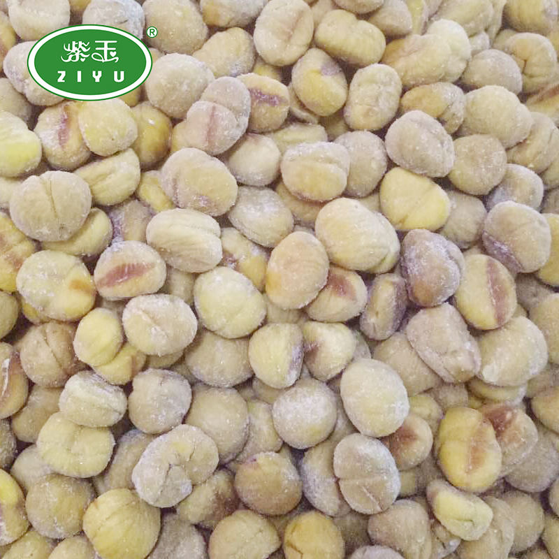 Hot Selling Frozen Peeled Roasted Chestnut organic Quick-frozen Chestnut kernel