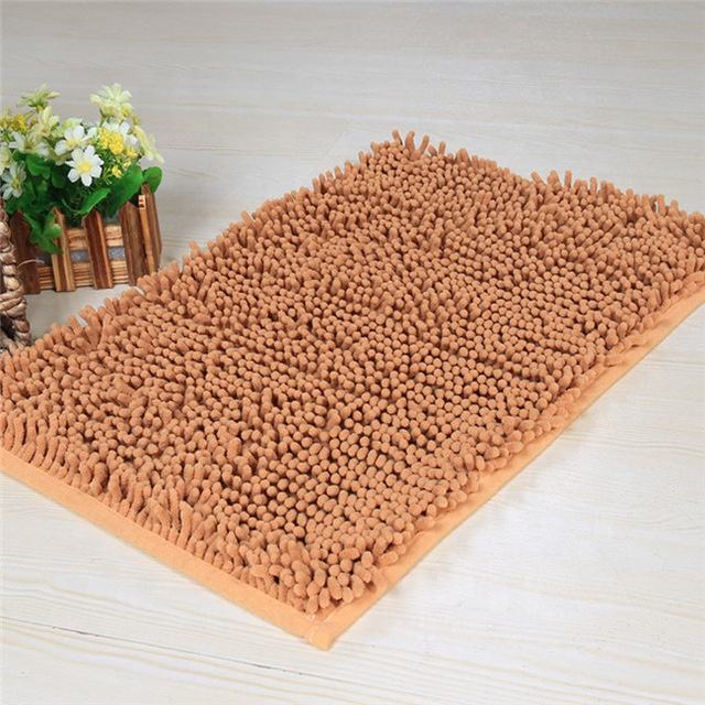 Bottom Microfiber Customized Printed Home Textile 80*120 Chenille Mat Bathmat Absorbent Kitchen Carpet