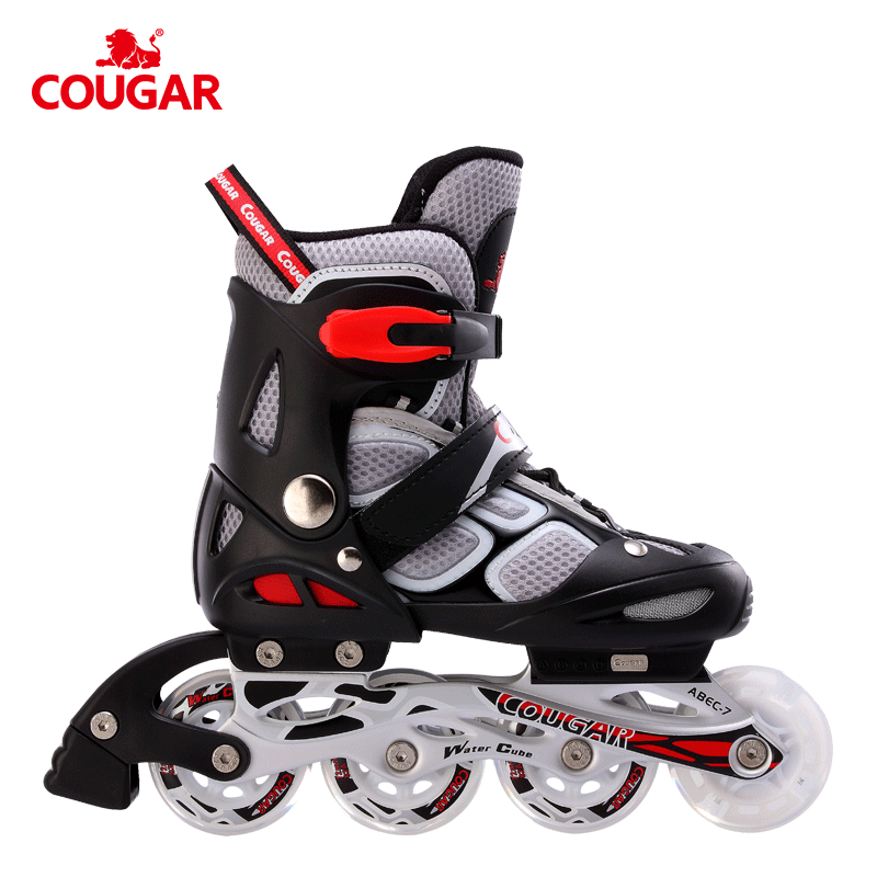 China Factory COUGAR MZS835LSG professional detachable flashing wheel inline skates