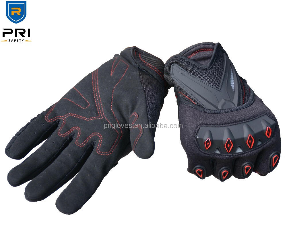 Breathable Synthetic leather Plastic Protector motorcycle leather motorcycle gloves