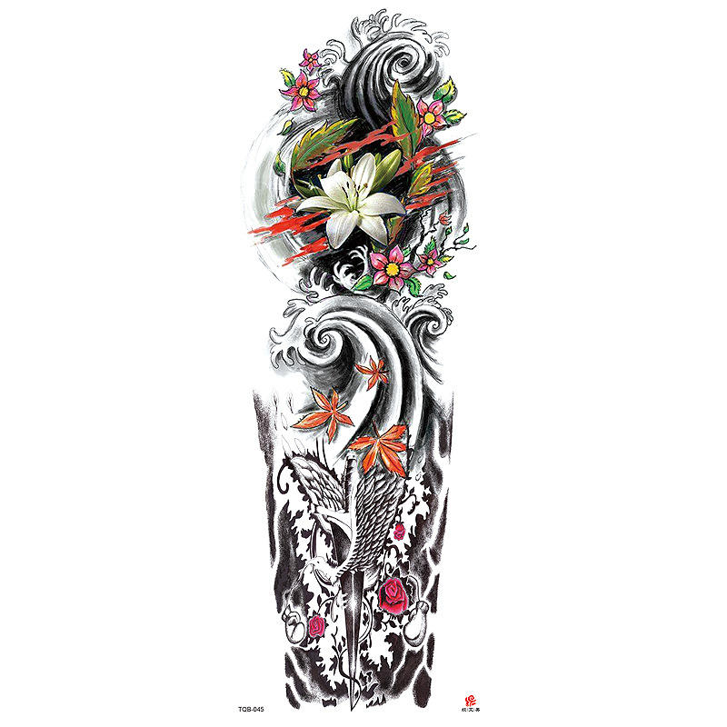 TQB 41-80 Long Lasting Tattoo Temporary Waterproof Temporary Full Arm Tattoo