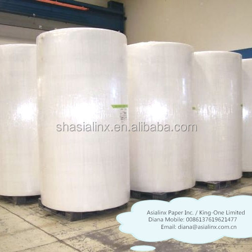 Especificaciones Bobinas Tissue 15 gsm raw materials tissue paper raw material facial paper jumbo roll parent 100% cellulose raw
