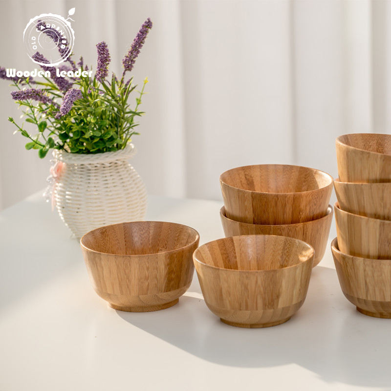 Hot Selling Bamboo Salad Bowl Kitchen Food Dessert Bowl
