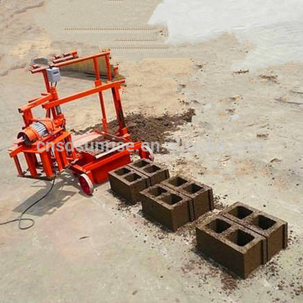 QT40-3C Mobile small egg layer hand operated brick making machine