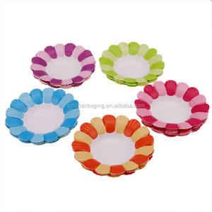 New Arrivals Disposable Petal Cake Paper Cup Holders Cupcake Baking Trays