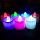 colorful Battery Operated electric Flameless Tea Lights LED tealight candle lights