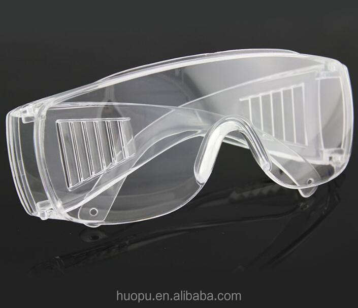 All transparent protective goggles plastic safety industrial shock proof glasses