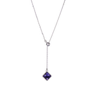 44716 xuping Y 라리 어트 necklace 결정 from Swarovski, simple 싼 인공 금 925 sterling silver color 숙 녀 jewellery