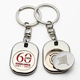 Wholesale Custom Coin Holder Key Ring, Coin Holder Token, Coin Key Chain
