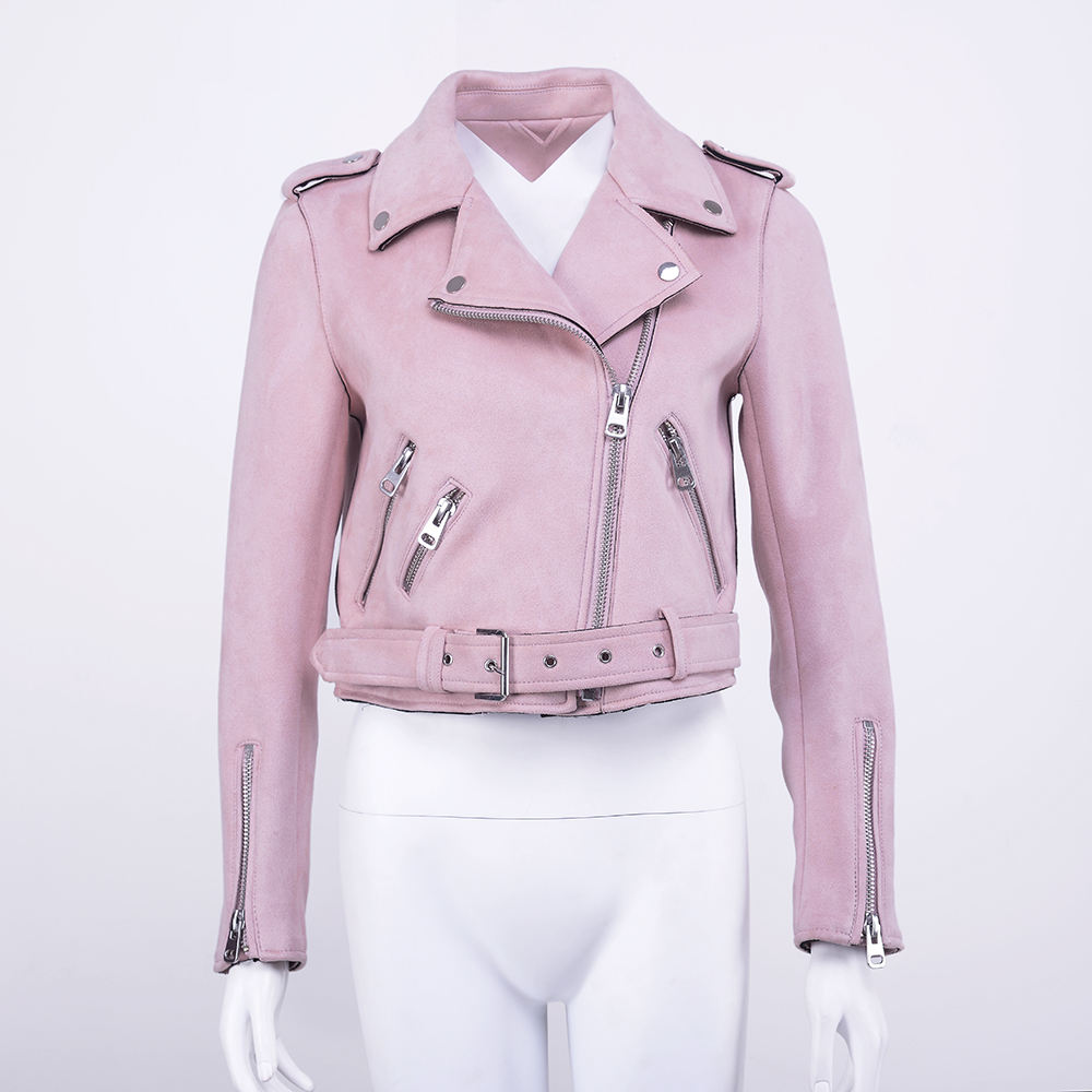 New Model 캐주얼 Design 봄 Faux Suede 숏 biker jacket women/women synthetic leather jacket 대 한 woman