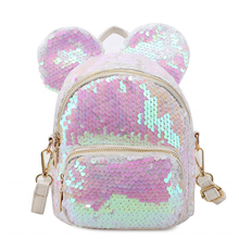sequin backpack custom sublimation logo school bag