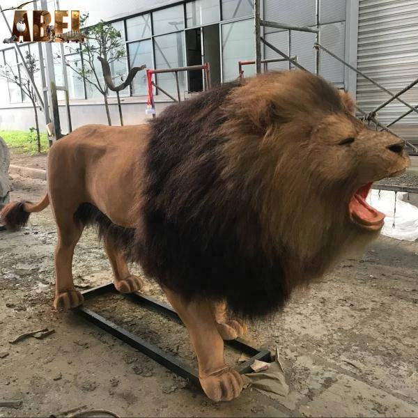 Life Size Animatronic Realistic Lion Model With Fur hand-made simulation wild animals