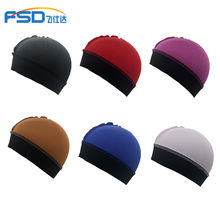 Wholesale stocking polyester spandex silk satin durag men wave cap