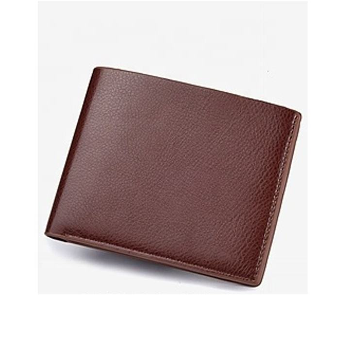 Soft grain leather slim men wallet manufactory