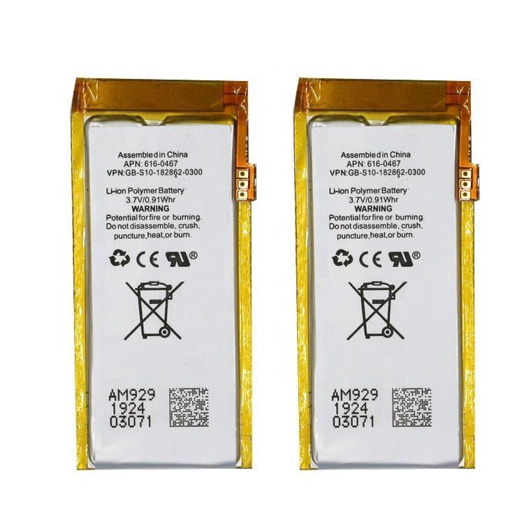 Original Replacement Battery For ipod Nano5 5G 5th Generation MP3 Li-Polymer Rechargeable Nano 5 616-0467