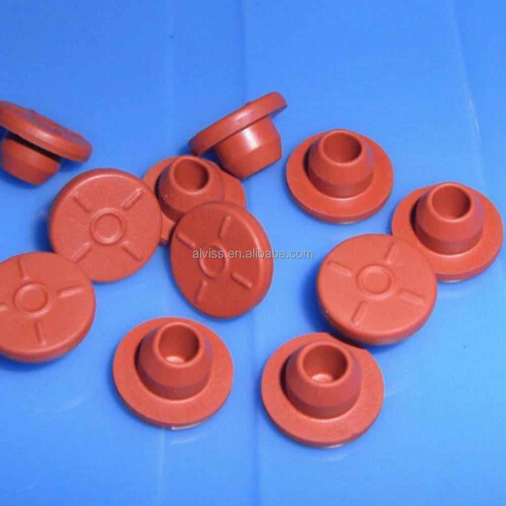 red rubber bottle caps for injection glass vials
