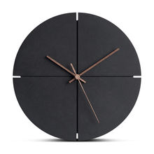 Concise Design Preciser Wooden Wall Clock For Living Room