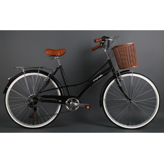 Factory Promotion 26 inch high carbon steel frame dutch bicycle and city bike with basket bikilist /bicyclette/Fahrrad for women