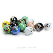 wholesale custom toy playing Printing Glass marble ball for kids