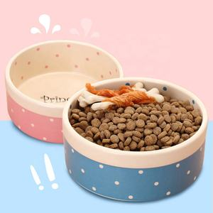 Cute Pet Ceramic Bowl, Heavy and Stable Food Water Dish for Dogs Cats bowls and feeders wholesale