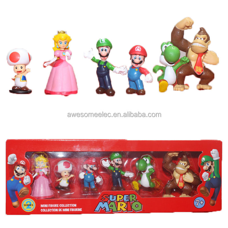 Mini Figures Mario Hot selling Super Mario PVC Action Figure 6pcs set Mario Toy